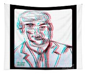 Cartoon Ink Sketch Of The Candidate Tapestry