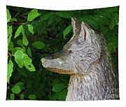 Carved Dogs Head Tapestry
