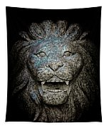 Carved Stone Lion's Head Tapestry