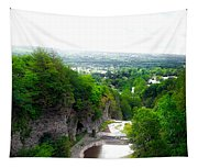 Cascadilla Gorge Cornell University Ithaca New York Panorama Tapestry
