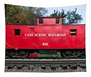 Cass Red Caboose Tapestry