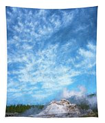 Castle Geyser Yellowstone Np Photo Painting_grk7577_05262018 Tapestry