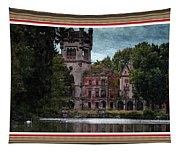 Castle Kapadia. L B With Decorative Ornate Printed Frame. Tapestry
