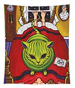 Cat - Alien Abduction Tapestry