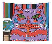 Cat Attack Tapestry