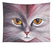 Cat Eyes Red Tapestry