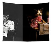 Cat - It's Our Birthday - 1914 - Side By Side Tapestry