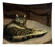 Cat On A Chair Tapestry