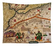Catalan Map Of Europe And North Africa Charles V Of France In 1381  Tapestry