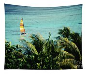Catamaran On Tumon Bay Tapestry