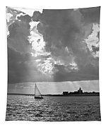 Catboat In Barnstable Harbor Tapestry