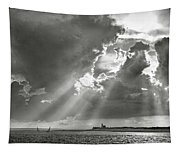 Catboats Sailing In Barnstable Harbor Tapestry