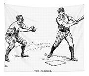 Catcher & Batter, 1889 Tapestry