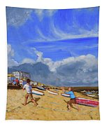 Catching The Ball, St Ives Tapestry