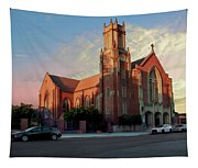 Cathedral At Dawn Tapestry