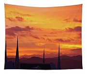 Cathedral Church Sunset Tapestry