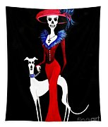 Catrina With Greyhound Tapestry