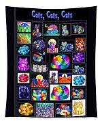 Catscatscats Tapestry