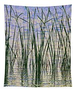 Cattails In The Lake Tapestry