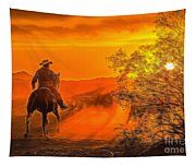 Cattle Drive 45 Tapestry