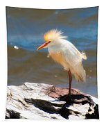Cattle Egret In Breeding Plumage Tapestry