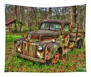 Caught Behind 1947 Ford Stakebed Pickup Truck Art Tapestry