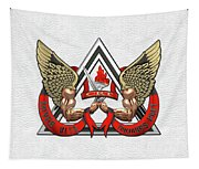 C.d.c.r. Crisis Response Team - C.r.t. Patch Over White Tapestry