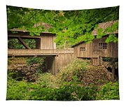 Cedar Creek Mill And Covered Bridge Tapestry