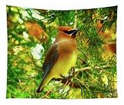 Cedar Waxwing Beauties 11 Tapestry