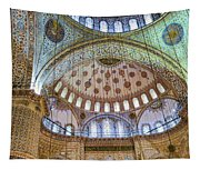 Ceiling Of Blue Mosque Tapestry