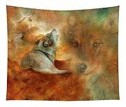 Celestial Wolves 2 Tapestry