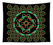 Celtic Christmas Holly Wreath Tapestry