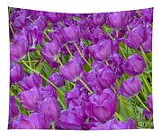 Central Park Spring-purple Tulips Tapestry