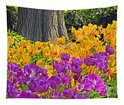 Central Park Tulip Display Tapestry