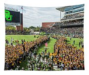 Ceremonial Running Of The Baylor Line Tapestry