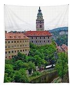 Cesky Krumlov Castle Complex In The Czech Republic Tapestry