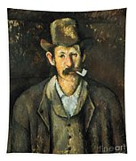 Cezanne: Pipe Smoker, C1892 Tapestry
