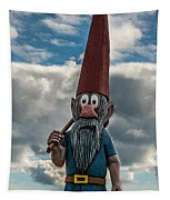 Chainsaw Art Gnome Tapestry