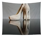 Champagne Stiletto Shoes Tapestry