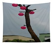 Chandelier On A Tree Tapestry