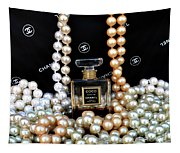 Chanel Coco With Pearls Tapestry