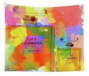 Chanel Five Watercolor Tapestry