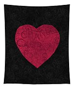 Chanel Heart-1 Tapestry