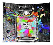 Chanel Rainbow Colors Tapestry