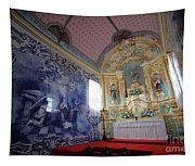 Chapel In Azores Islands Tapestry