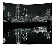 Charcoal Night In Dallas Tapestry