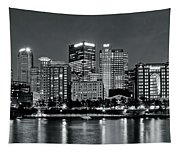 Charcoal Panoramic In Pittsburgh 2017 Tapestry