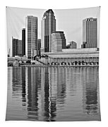 Charcoal Tampa Tapestry