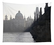 Charles Bridge At Early Morning Tapestry