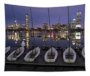 Charles River Boats Clear Water Reflection Tapestry
